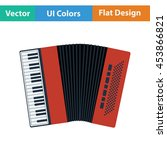 accordion icon. flat color...