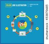 color line illustration. data... | Shutterstock .eps vector #453870685