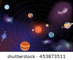 the planets of the solar system ... | Shutterstock .eps vector #453873511