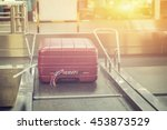 luggage at point of checking... | Shutterstock . vector #453873529