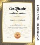 portrait certificate of... | Shutterstock .eps vector #453875695