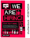 we are hiring   flat style... | Shutterstock .eps vector #453876034