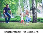 happy family having weekend in... | Shutterstock . vector #453886675
