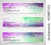 abstract colorful set of shiny... | Shutterstock .eps vector #453887101