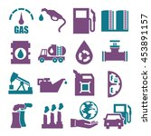 gasoline  gas  oil icon set | Shutterstock .eps vector #453891157