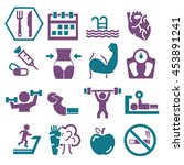 gym icon set | Shutterstock .eps vector #453891241
