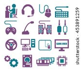 gamer  gaming gear icon set | Shutterstock .eps vector #453891259