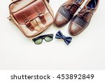 men's accessories outfits with... | Shutterstock . vector #453892849