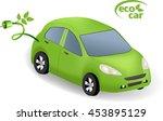 ecologic car concept.green car...   Shutterstock .eps vector #453895129