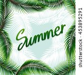 summer theme background with... | Shutterstock .eps vector #453895291