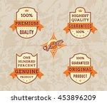 vintage labels set | Shutterstock .eps vector #453896209