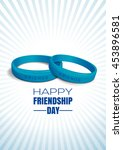 blue wristbands with text... | Shutterstock .eps vector #453896581