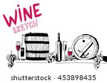 hand drawn sketch vector with... | Shutterstock .eps vector #453898435