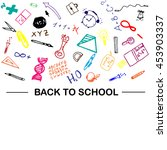 back to school banner isolated... | Shutterstock .eps vector #453903337