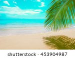 beautiful sunny beach. view of... | Shutterstock . vector #453904987