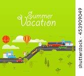 summer season vector concept.... | Shutterstock .eps vector #453909049