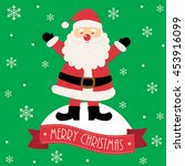 christmas card with santa... | Shutterstock .eps vector #453916099