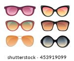 set of summer sunglasses... | Shutterstock .eps vector #453919099