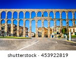 Segovia  Spain. Town View At...