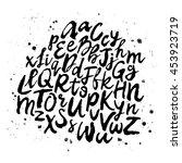 vector hand drawn alphabet.... | Shutterstock .eps vector #453923719