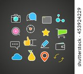 different simple web icons... | Shutterstock .eps vector #453924229
