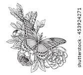 vector illustration of hand... | Shutterstock .eps vector #453924271
