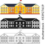 erent kind school building... | Shutterstock .eps vector #453927619
