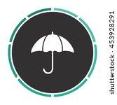 umbrella. white circle button...
