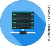 multiple servers | Shutterstock .eps vector #453929257