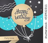 card with lettering happy...   Shutterstock .eps vector #453932311