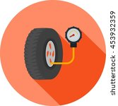 tyre air pressure checker   Shutterstock .eps vector #453932359