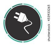 electrical plug. white circle...