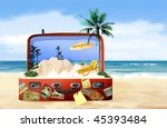 exotic island in the suitcase | Shutterstock . vector #45393484