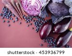 purple fruits and vegetables... | Shutterstock . vector #453936799