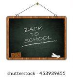 blackboard grunge  back to... | Shutterstock .eps vector #453939655
