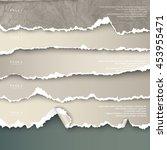 set of design elements torn... | Shutterstock .eps vector #453955471