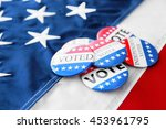 american vote badges on...