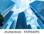 high rise buildings and blue... | Shutterstock . vector #453966091