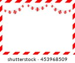red and white frame and lantern | Shutterstock .eps vector #453968509