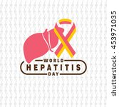 liver with hepatitis symbol and ... | Shutterstock .eps vector #453971035