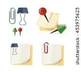vector set of cartoon... | Shutterstock .eps vector #453975625
