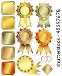set gold  silver and bronze... | Shutterstock . vector #45397678