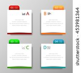 banners template colorful tabs... | Shutterstock .eps vector #453981364