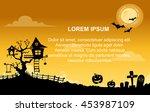 landscape halloween background... | Shutterstock .eps vector #453987109