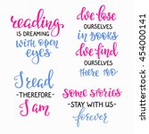 positive quote lettering set.... | Shutterstock .eps vector #454000141
