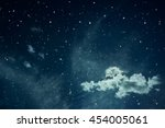 night sky with stars. fairy... | Shutterstock . vector #454005061
