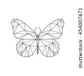 Geometric Butterfly. Butterfly...