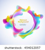 abstract round banner. plastic... | Shutterstock .eps vector #454012057