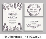 vintage wedding set with... | Shutterstock .eps vector #454013527