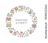donations and charity... | Shutterstock .eps vector #454015261